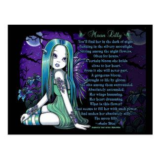 Cartão feericamente do poema de Lilly Myka Jelina