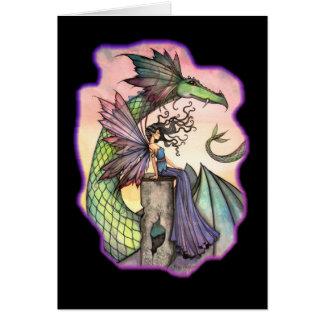 Cartão feericamente do vazio do dragão