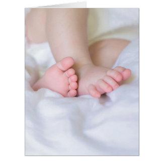 Cartão feet of a baby