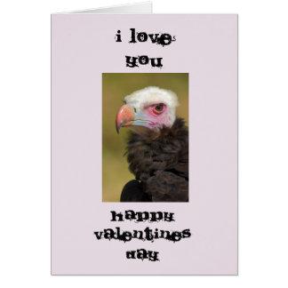 Cartão feio do dia dos namorados do pássaro