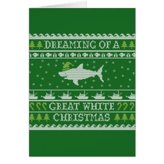 Cartão feio engraçado da camisola do grande White