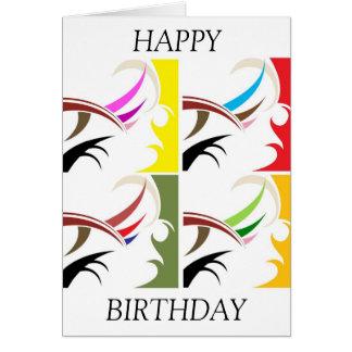 Cartão feito-à-medida do feliz aniversario