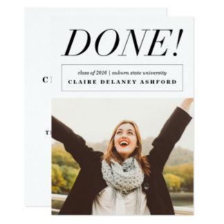 Cartão Feito! Anúncios à moda da foto da graduação