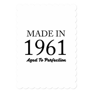 Cartão Feito em 1961