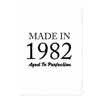Cartão Feito em 1982