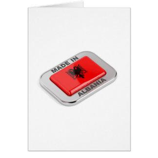 Cartão Feito em Albânia