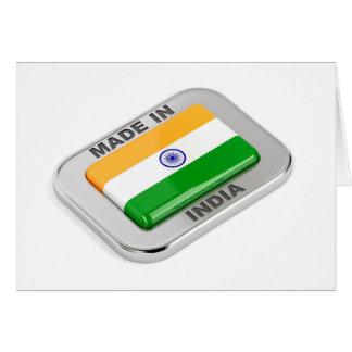 Cartão Feito em India
