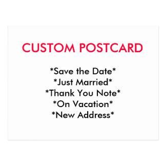 Cartão feito sob encomenda