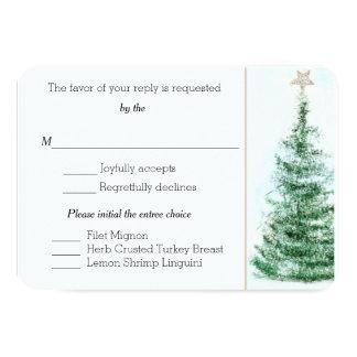 Cartão feito sob encomenda da árvore de Natal RSVP Convite 8.89 X 12.7cm