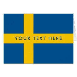 Cartão feito sob encomenda da bandeira sueco para