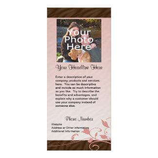 Cartão feito sob encomenda da cremalheira da foto, 10.16 x 22.86cm panfleto