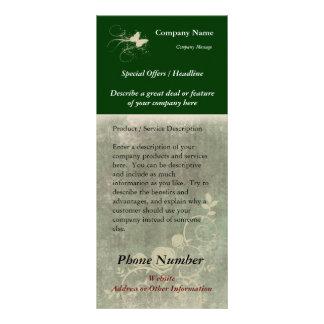 Cartão feito sob encomenda da cremalheira, design  10.16 x 22.86cm panfleto