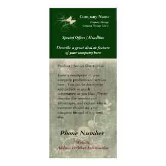 Cartão feito sob encomenda da cremalheira, design  panfleto informativo