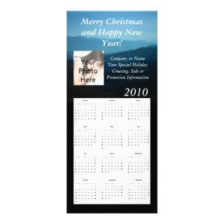 Cartão feito sob encomenda da cremalheira do calen 10.16 x 22.86cm panfleto