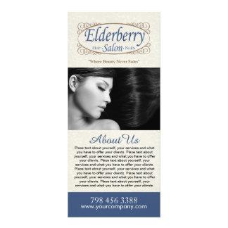 Cartão feito sob encomenda da cremalheira do menu 10.16 x 22.86cm panfleto