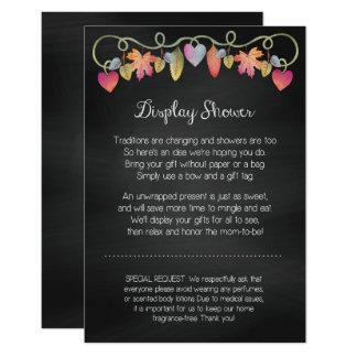 Cartão feito sob encomenda da exposição do chá de