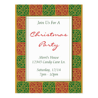 Cartão feito sob encomenda da festa de Natal do Cartão Postal