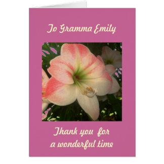 Cartão feito sob encomenda da ocasião especial