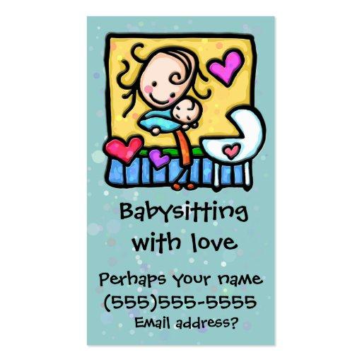 Cartão feito sob encomenda da puericultura da baby cartões de visitas