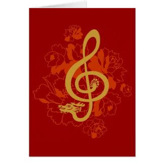 Cartão feito sob encomenda das peônias musicais do