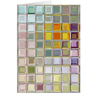 Cartão feito sob encomenda de vidro de azulejos de