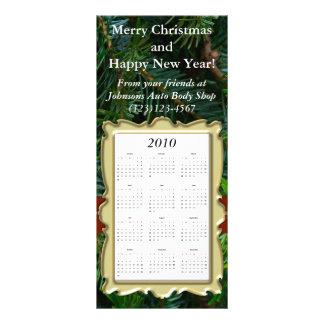 Cartão feito sob encomenda do calendário do feriad 10.16 x 22.86cm panfleto