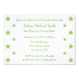 Cartão feito sob encomenda do convite da festa de convite 8.89 x 12.7cm