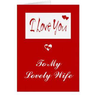 Cartão feito sob encomenda do coração
