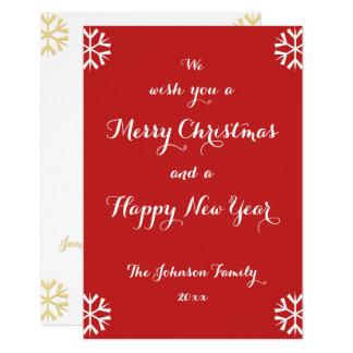 Cartão feito sob encomenda do feliz ano novo do