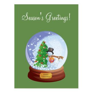 Cartão feito sob encomenda do feriado de Snowglobe