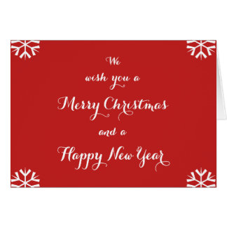 Cartão feito sob encomenda do feriado do feliz ano