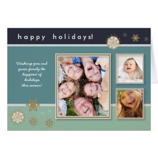 Cartão feito sob encomenda do feriado dos flocos d