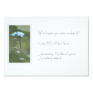 Cartão feito sob encomenda do miosótis RSVP Convite 8.89 X 12.7cm