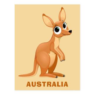 Cartão feito sob encomenda do texto do canguru