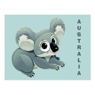 Cartão feito sob encomenda do texto do Koala