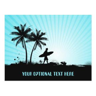 Cartão feito sob encomenda do texto do surfista da