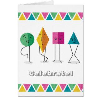 Cartão feito sob encomenda dos amigos da geometria