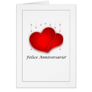 Cartão Felice Anniversario