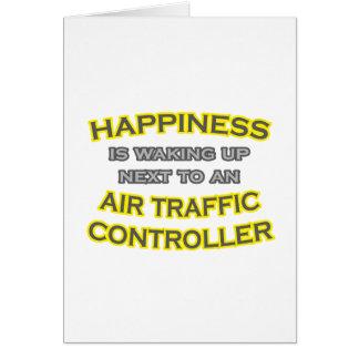 Cartão Felicidade. Acordar. Controlador aéreo