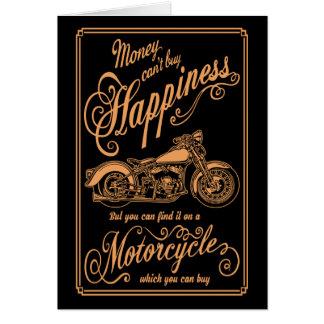 Cartão Felicidade - motocicleta