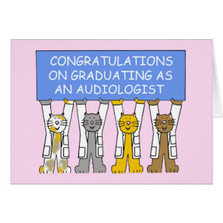 Cartão Felicitações da graduação do Audiologist