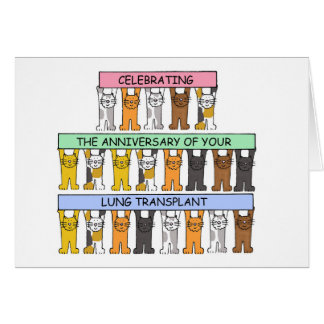 Cartão Felicitações do aniversário da transplantação do