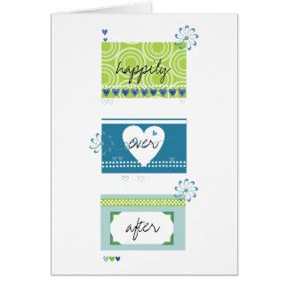 Cartão Felicitações do casamento