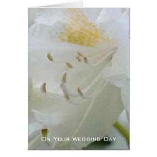 Cartão Felicitações Wedding brancas do rododendro  