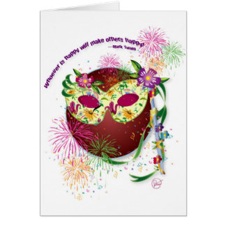 Cartão feliz