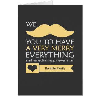 Cartão Feliz amarela do bigode tudo feriado