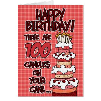 Cartão Feliz aniversario - 100 anos velho