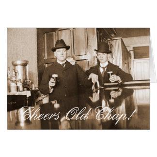 Cartão Feliz aniversario 1890 da rachadura velha dos