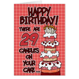 Cartão Feliz aniversario - 29 anos velho