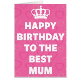 Cartão Feliz aniversario à melhor mãe